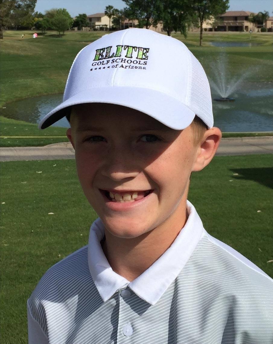 Bayden Bozak junior world golfer in Mesa, Arizona
