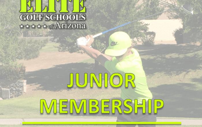 Junior membership with Elite Golf Schools of Arizona